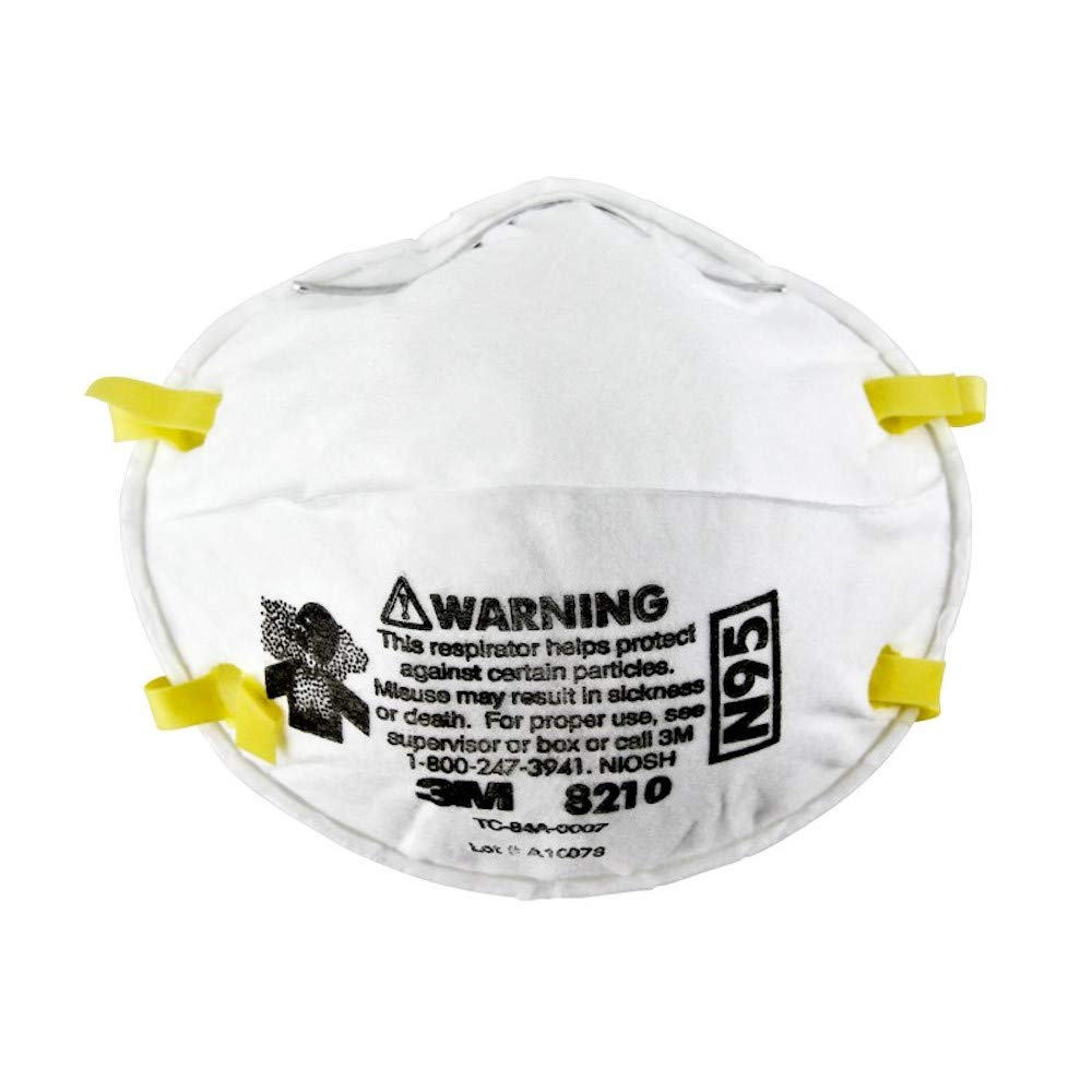 3M 8210 N95 Disposable Respirator - Pack of  100